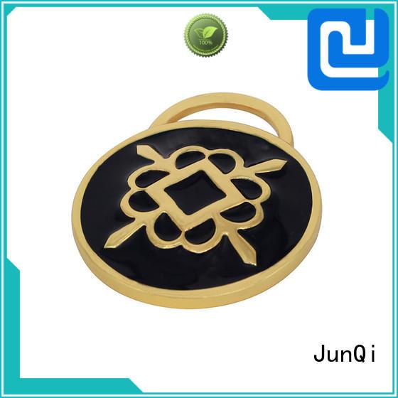 JunQi oem handbag labels wholesale Copper for fashion
