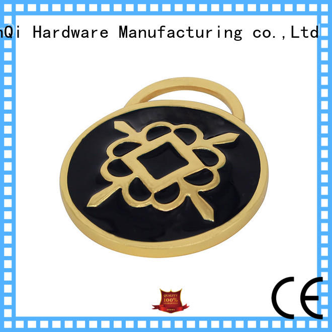 oem metal bag labels cheap price for clothes
