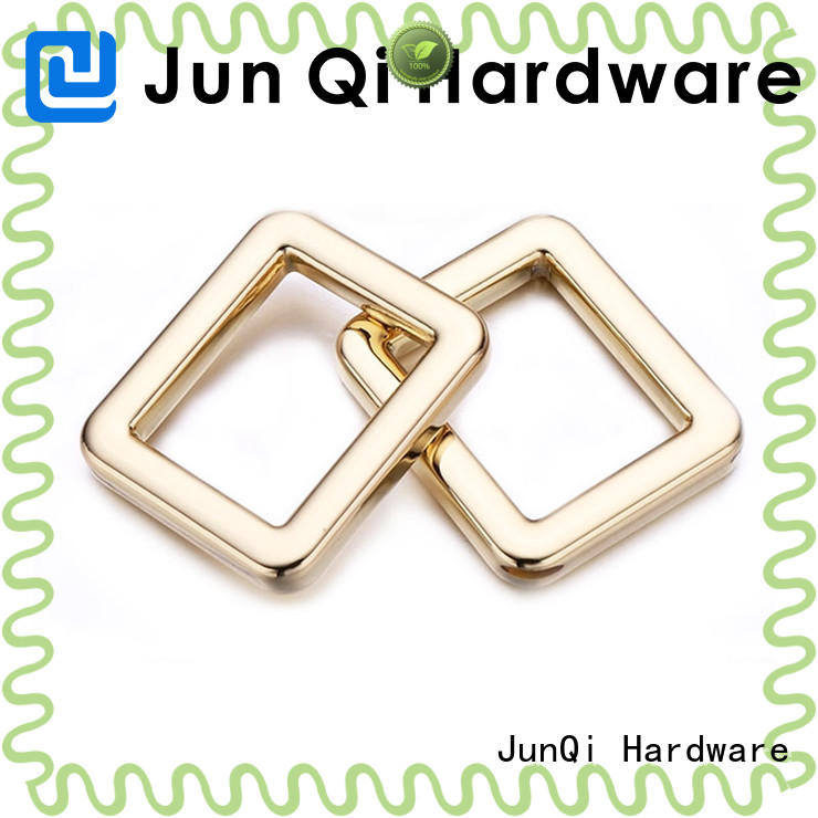 JunQi split square metal ring for wholesale for fashion