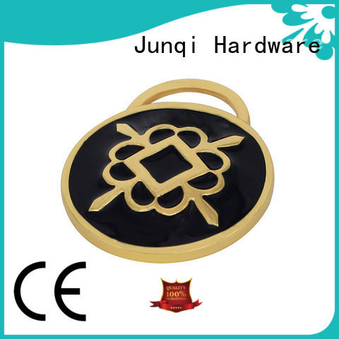 JunQi custom label metal bag labels cheap price for fashion