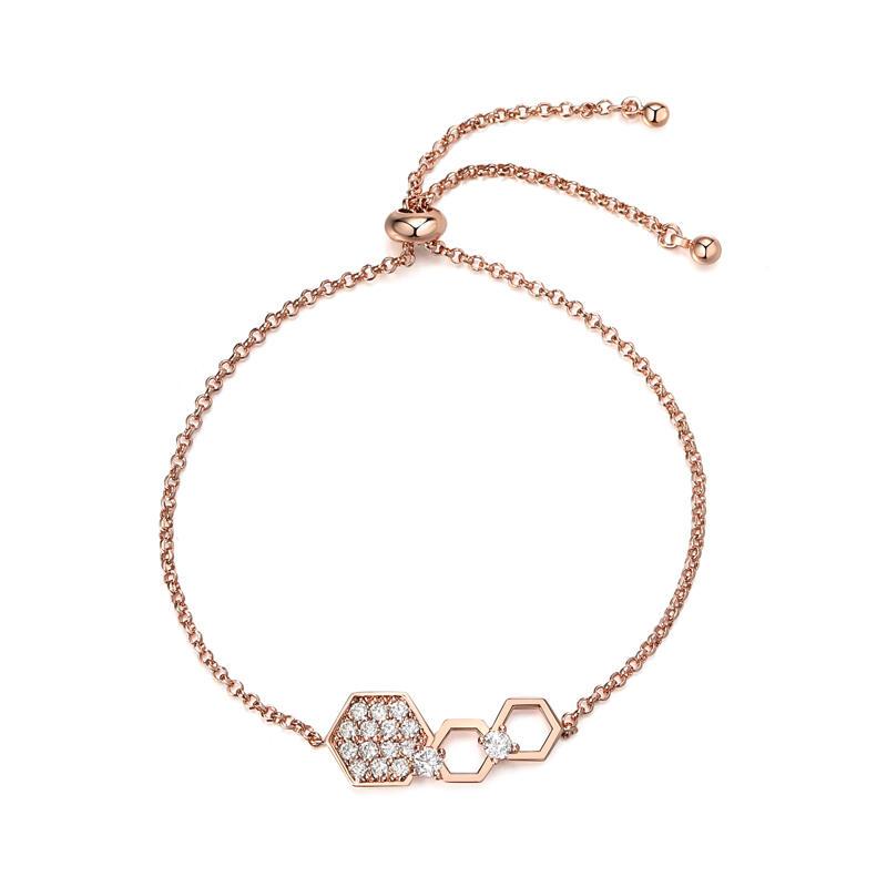 Trendy Shinny Crystal Adjusted Honeycomb  Bracelets Charms Jewelry